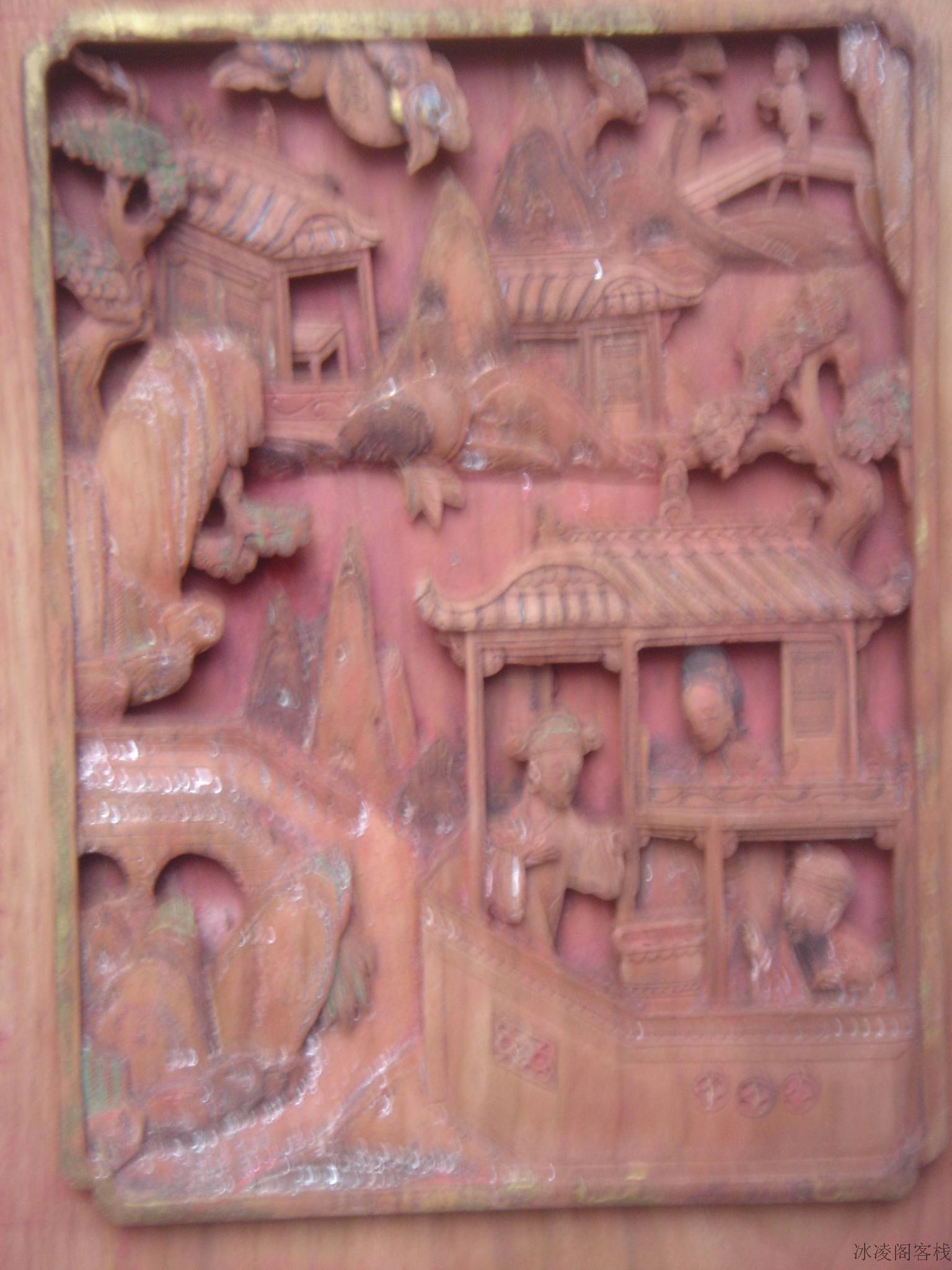 方形木雕花板